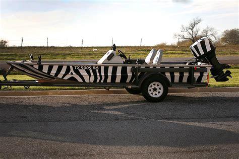 Vinyl Wrap For Jon Boat by Zebra Jon Boat Wrap Car Wrap City