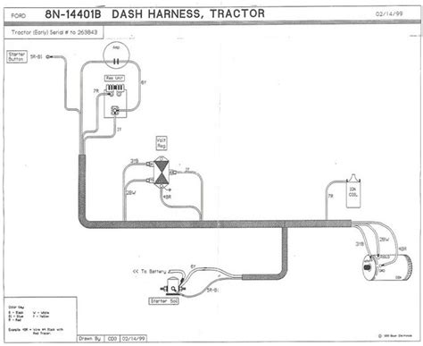 Ford 8n Wiring Schematic Positive Ground by Schematic 51 8n Ford 9n 2n 8n Forum Yesterday S Tractors