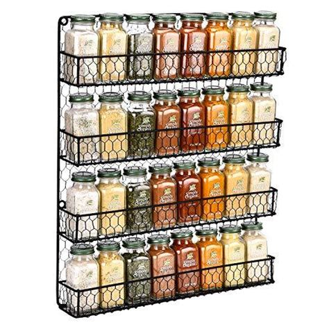 Wire Spice Rack by Chicken Wire Spice Rack 4 Tier Wall Mounted Spice Rack