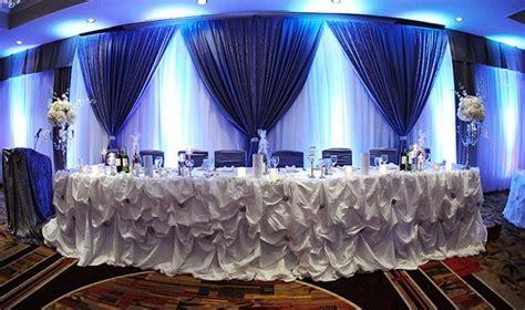 blue wedding decor head table wedding ideas pinterest