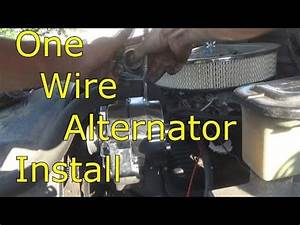 One Wire Alternator Install