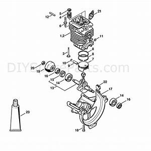 Stihl Km 110 R Engine  Km 110 R  Parts Diagram  Cylinder