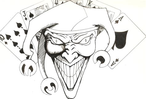 joker drawing wicked     ayoqq cliparts