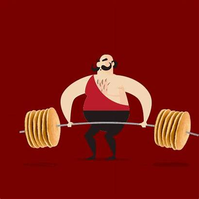 Lifting Animation Strong Weight Animated Funny Weightlifting