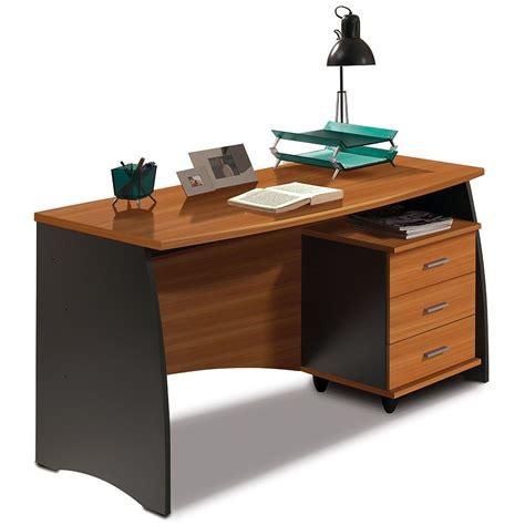 scrivania con cassetti scrivania ufficio in legno con 3 cassetti colore castagno