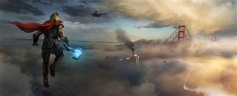 Thor Approaching Marvels Avengers Wallpaper, HD Games 4K ...