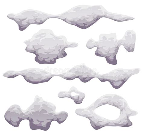 Cartoon Smoke, Fog And Clouds Set Stock Vector