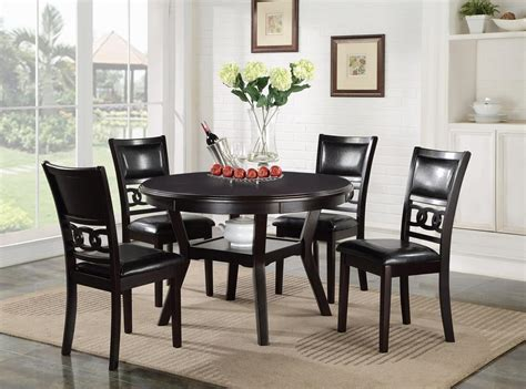 New Classic Gia D1701-50S Dining Table and Chair Set with ...