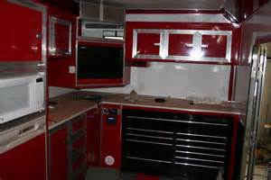 cer trailer kitchen ideas touch of class trailers kitchen area cabinets