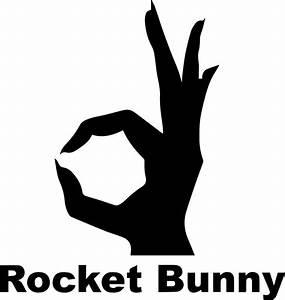 """Rocket Bunny - Black"" Stickers by JDMShop Redbubble"