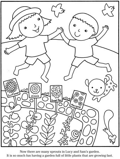 garden coloring page az coloring pages