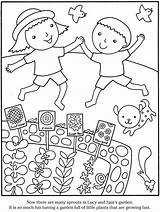 Coloring Garden Pages Gardening Printable Preschool Sheets Simple Vegetable Flower Colouring Adult Flowers Doverpublications Bestcoloringpagesforkids Azcoloring Dover Publications Books Getcoloringpages sketch template