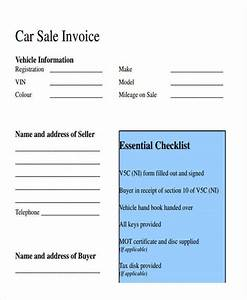 13 sales invoice templates for Car sales invoice pdf
