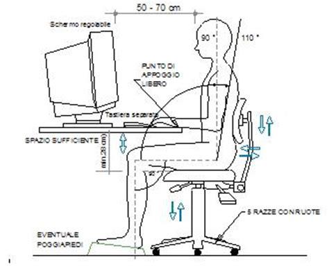 Postura Corretta Scrivania by Posizione Ergonomica Postura Corretta Al Computer