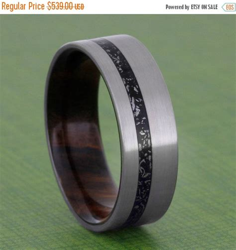 on sale black stardust ring titanium wedding band with