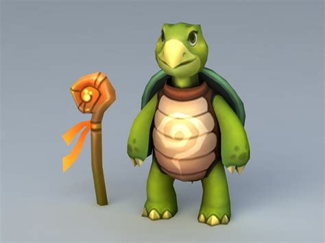 cartoon turtle  model ds max files