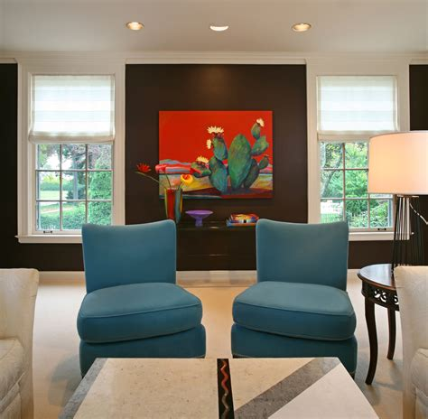teal and chocolate brown living room modern house