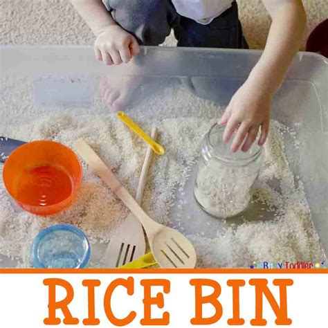 rice activities for preschoolers rice bin sensory play activity busy toddler 410