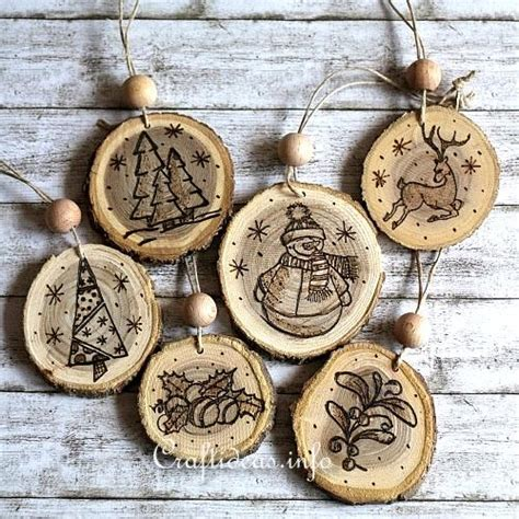 how to make wooden ornaments wood crafts for christmas wood burned christmas ornaments from wooden branch slices
