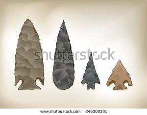 Detailed Vector drawing of 4 / Arrowheads / easy to edit ...