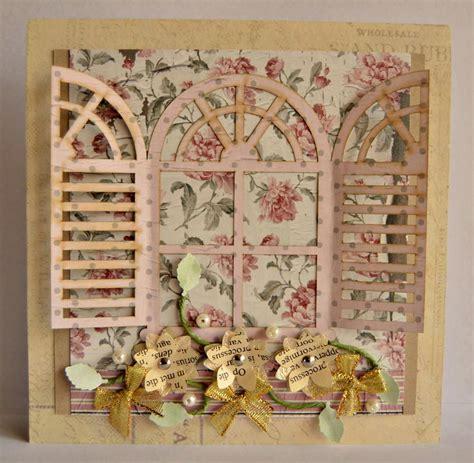 Vintage French Shutter Handmade Card Allfreepapercraftscom