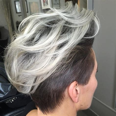blonde red brown ombre ed  highlighted pixie cuts