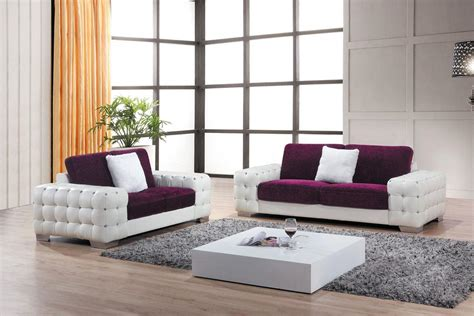 Purple Contemporary Sofa by Unique Purple Sofa Set For Your New Contemporary Home