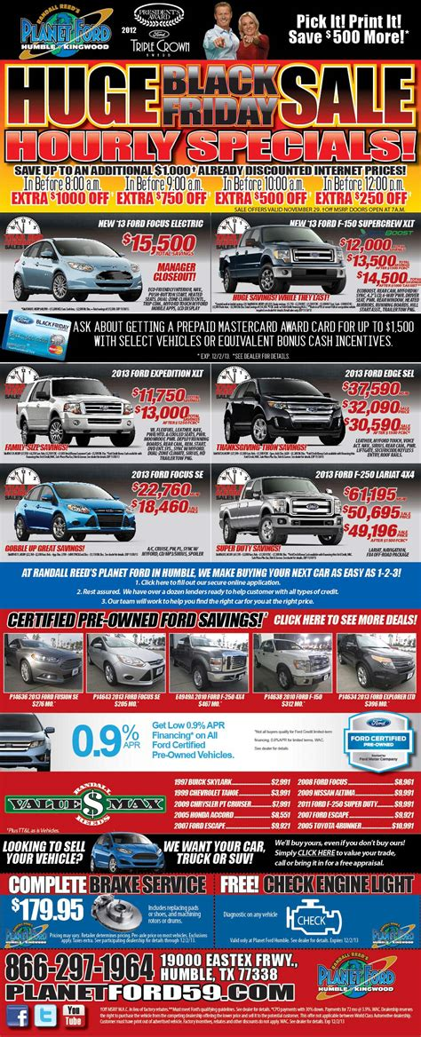Black Friday Savings at Planet Ford in Humble!Planet Ford 59