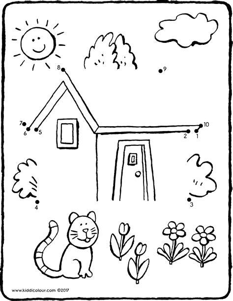 Huizen Kleurplaat by Huis Kleurplaat Kleurprent Tekening Kleurplaat Huis