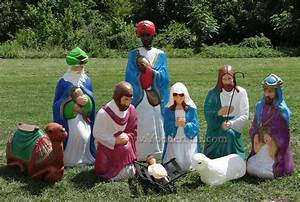 life size outdoor nativity scene With outdoor light up nativity sets for sale