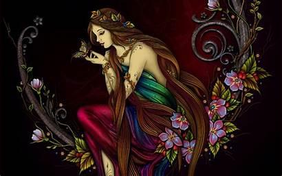 Butterfly Kupu Wanita Cantik Lukisan Princess Colourful
