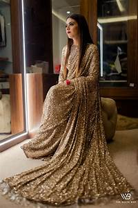 Buy Sabyasachi Gold Sequence Saree Online From Ethnicplus
