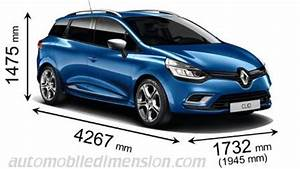 Dimensions Renault Clio : dimensions of renault cars showing length width and height ~ Medecine-chirurgie-esthetiques.com Avis de Voitures