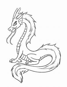 Simple Chinese Dragon Outline - ClipArt Best