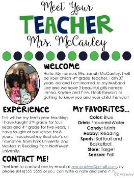 free meet the template meet the editable template by zanah mccauley tpt