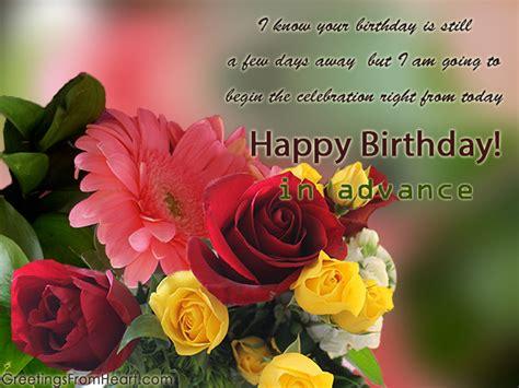 birthday wishes  advance