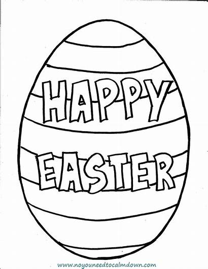 Easter Coloring Egg Pages Printable Happy Eggs