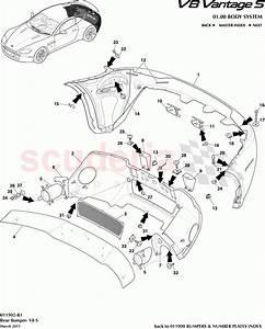 Aston Martin V8 Vantage Rear Bumper