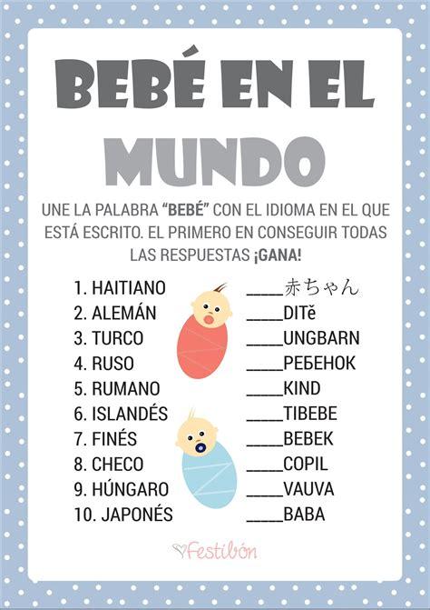 Juegos Baby Shower En Espanol