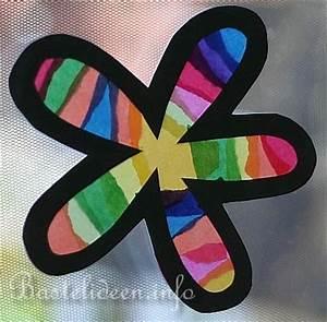 Blumen Basteln Fensterdeko : basteln mit kindern fensterbilder regenbogen blumen ~ Markanthonyermac.com Haus und Dekorationen
