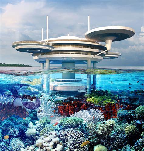 photos underwater hotel concept for great barrier reef australian business traveller