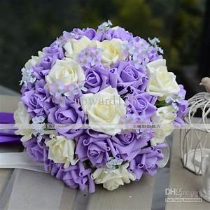 Light Blue And Purple Wedding Flowers