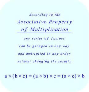 Associative Property Multiplication Examples