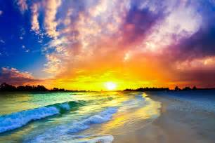 World Most Beautiful Beaches in the Sunset