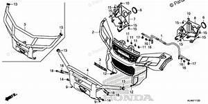 Honda Side By Side 2019 Oem Parts Diagram For Front Grille