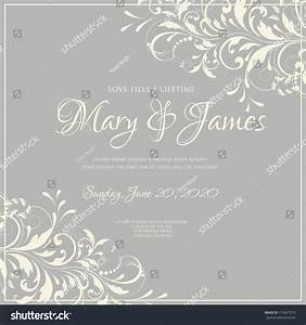 wedding card invitation abstract floral background stock With wedding invitation background music free download