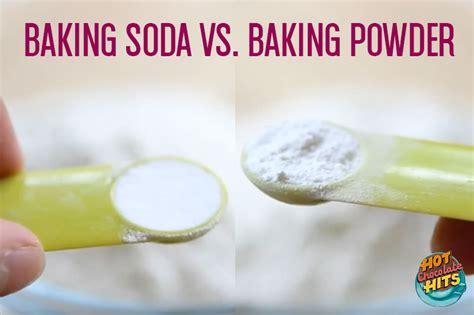 baking powder vs baking soda baking soda vs baking powder hot chocolate hits