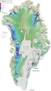 Greenland Glaciers Map