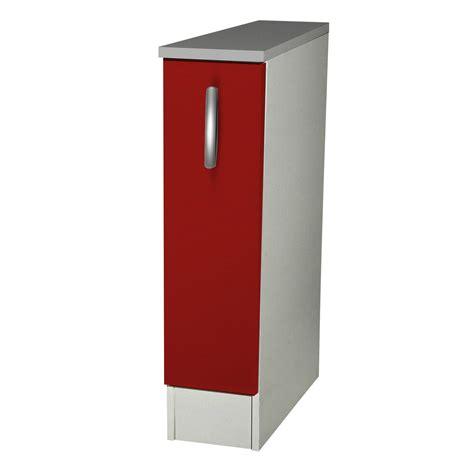meuble bas cuisine largeur 15 cm meuble de cuisine bas 1 porte h86x l15x p60cm leroy merlin