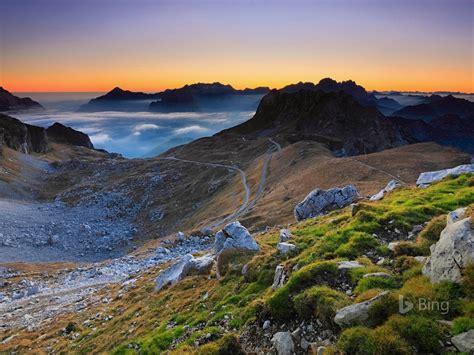 partie slovenienne des alpes juliennes  bing fonds